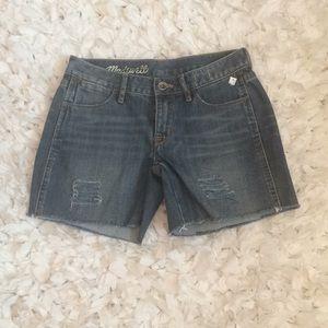 Madewell cutoff denim shorts size 25